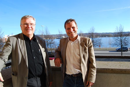 Prof. Ingvar L Svensson (left) and Prof. Anders E.W. Jarfors (right)